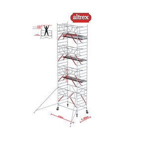 Gevelvrij* 1.35 x 3.05 x 9.20m WH Safe-Quick RS Tower 52-S