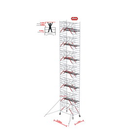 Gevelvrij* 1.35 x 3.05 x 14.20m WH Safe-Quick RS Tower 52-S