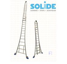 Solide 2- delige puntladder  14/12 treden
