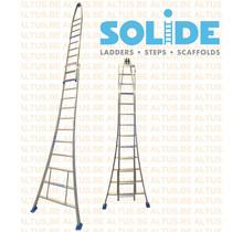 Solide 2- delige puntladder 12/10 treden