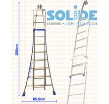 Solide 2- delige puntladder 10/8 treden