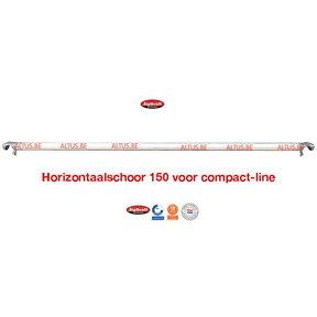 Compact-line horizontale schoor 1500mm compact-line