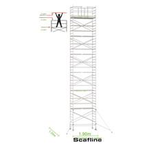 Professionele rolsteiger 14.20m werkhoogte x 135cm breedte x 190cm platformlengte