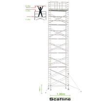 Professionele rolsteiger 13.20m werkhoogte x 135cm breedte x 190cm platformlengte