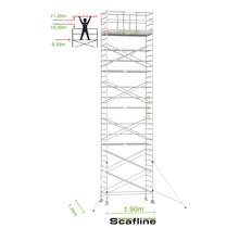 Professionele rolsteiger 11.20m werkhoogte x 135cm breedte x 190cm platformlengte