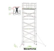 Professionele rolsteiger 9.20m werkhoogte x 135cm breedte x 190cm platformlengte
