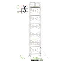 Professionele rolsteiger 14.20m werkhoogte x 135cm breedte x 250cm platformlengte