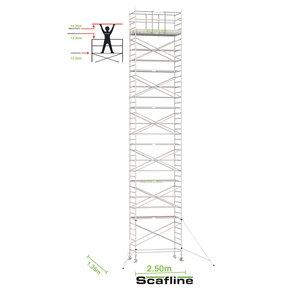 14.20m werkhoogte x 135cm breedte x 250cm platformlengte