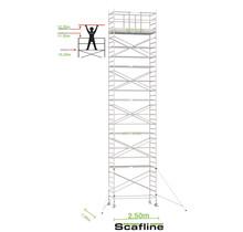 Professionele rolsteiger 12.20m werkhoogte x 135cm breedte x 250cm platformlengte