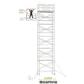 12.20m werkhoogte x 135cm breedte x 250cm platformlengte