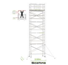 Professionele rolsteiger 10.20m werkhoogte x 135cm breedte x 250cm platformlengte