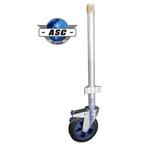 ASC regelbare steigerwiel Ø 200 mm alu spindel  275 kg draagvermogen