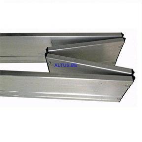 Kantplankset aluminium schanierend 75x 120 voor xs tower