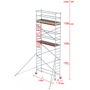 RS-41 Tower 0.75m B x 1.85m L x 5.20m Vh = 7.20 wh traditionele opbouw