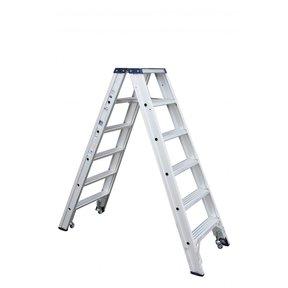 Rollerstep dubbele trapladder Ano 2x6 treden