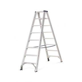 Rollerstep dubbele trapladder Ano 2x8 treden