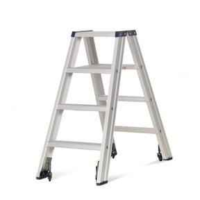 Rollerstep dubbele trapladder Ano 2x4 treden