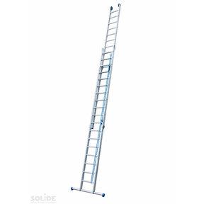 2-delige touwladder 2x18 treden