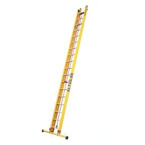 2-delige GVK schuifladder met touw 2x18 alu sporten met stabibalk