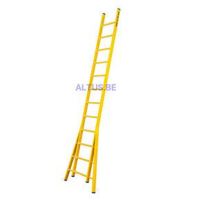 Enkele GVK ladder 12 sporten  verbrede basis opengaande bomen