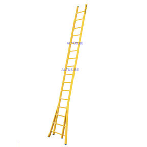 Enkele GVK ladder 16 sporten  verbrede basis opengaande bomen
