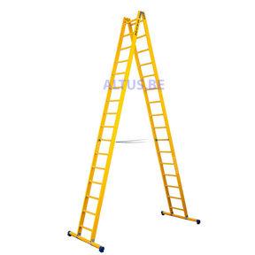 Dubbele GVK ladder 2x16 sporten met stabibalk