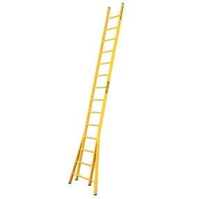 Enkele GVK ladder 14 sporten  verbrede basis opengaande bomen
