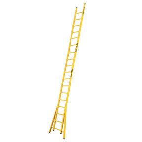 Enkele GVK ladder 18 sporten  verbrede basis opengaande bomen