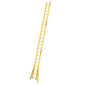Enkele GVK ladder 22 sporten  verbrede basis opengaande bomen