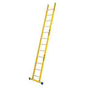 Enkele GVK ladder 12 alu sporten met stabibalk