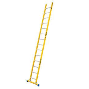 Enkele GVK ladder 14 alu sporten met stabibalk