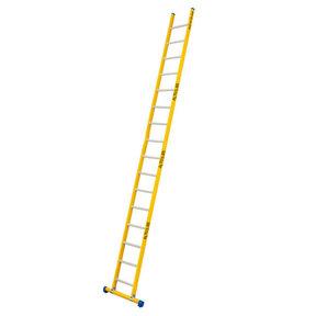 Enkele GVK ladder 16 alu sporten met stabibalk