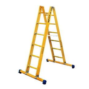 Dubbele GVK ladder 2x6 sporten met stabibalk