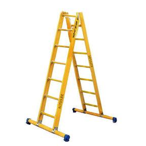 Dubbele GVK ladder 2x7 sporten met stabibalk