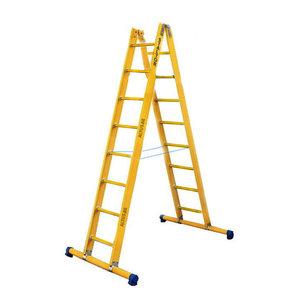 Dubbele GVK ladder 2x8 sporten met stabibalk