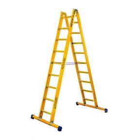 Dubbele GVK ladder 2x9 sporten met stabibalk