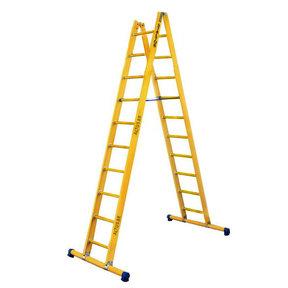 Dubbele GVK ladder 2x10 sporten met stabibalk