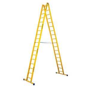 Dubbele GVK ladder 2x18 sporten met stabibalk