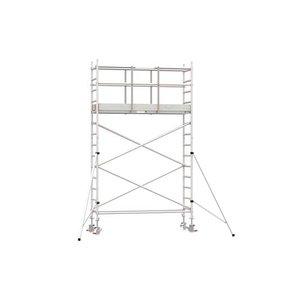 5.20m werkhoogte x 75cm breedte x 190cm platformlengte