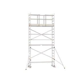 6.20m werkhoogte x 75cm breedte x 190cm platformlengte