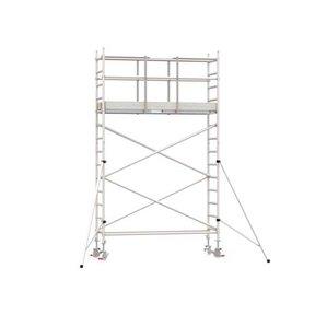 5.20m werkhoogte x 75cm breedte x 250cm platformlengte