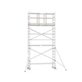 6.20m werkhoogte x 75cm breedte x 250cm platformlengte