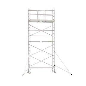 7.20m werkhoogte x 75cm breedte x 250cm platformlengte
