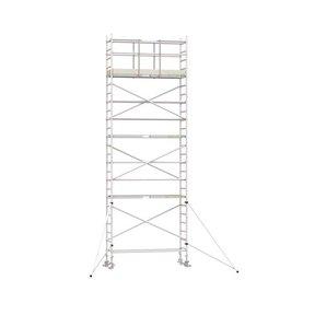 8.20m werkhoogte x 75cm breedte x 250cm platformlengte