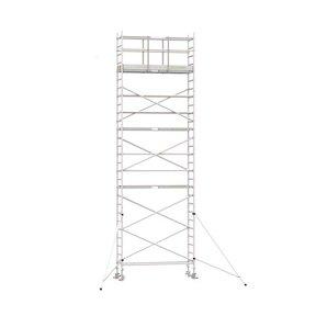 9.20m werkhoogte x 75cm breedte x 250cm platformlengte