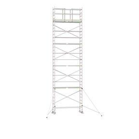 10.20m werkhoogte x 75cm breedte x 250cm platformlengte