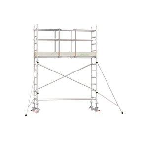 4.20m werkhoogte x 90cm breedte x 250cm platformlengte