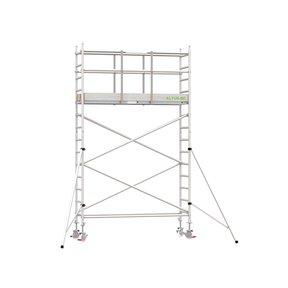 5.20m werkhoogte x 90cm breedte x 250cm platformlengte