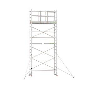 7.20m werkhoogte x 90cm breedte x 250cm platformlengte