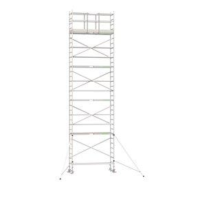10.20m werkhoogte x 90cm breedte x 250cm platformlengte